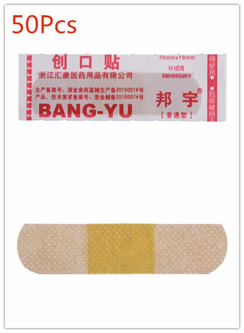 50Pcs Impermeabile E Traspirante Ferita Emostasi Sticker Band di Primo Soccorso Bendaggio Cuscino Cerotto Adesivo Medico Cerotti Bende