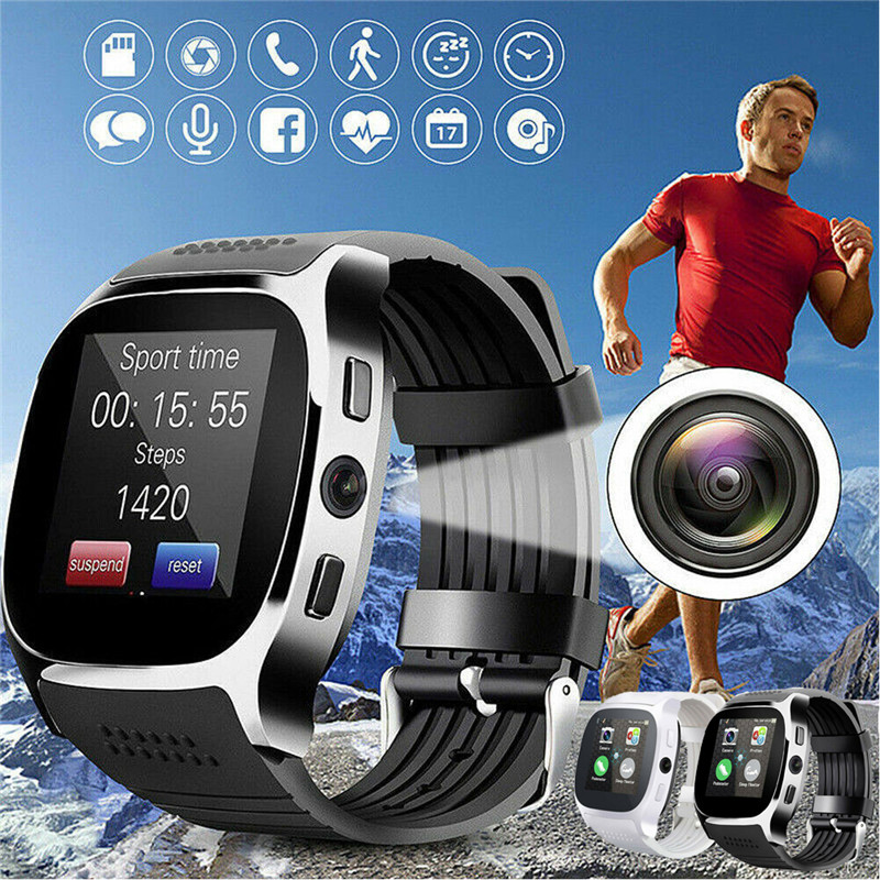 <font><b>T8</b></font> Sport Smart Uhr Wasserdichte SIM-Handy Bluetooth Kamera Fitness Armband Monitor Für Android IOS iPhone Samsung Smartwatch image