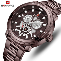 NAVIFORCE Watch Men Fashion casual Quartz Wristwatch Stainless Steel Sport Men's Watches Hour Analog Male Clock Erkek kol saati