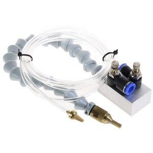 Image 1 - 안개 냉각수 윤활 스프레이 시스템 8mm 공기 파이프 CNC 선반 밀링 드릴 기계 금속 절단 조각 냉각 기계