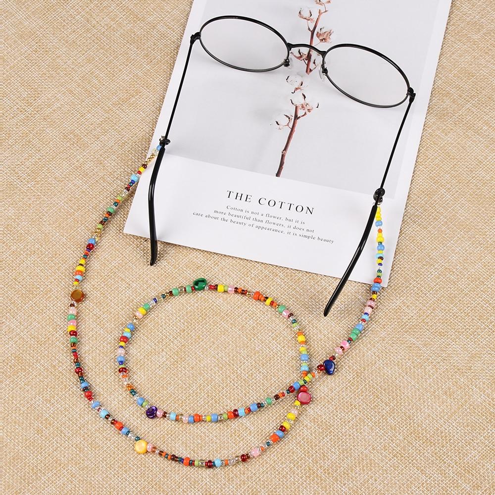 1 шт. модные милые женские очки цепь цветное, с бисером шнурок для очков противоскользящие солнцезащитные очки ремень очки шнур аксессуары