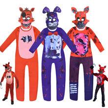 2021 Children's Bear Brothers Halloween Costume Freddy's Jumpsuit Bear's Midnight Harem Cosplay Freddy Anime