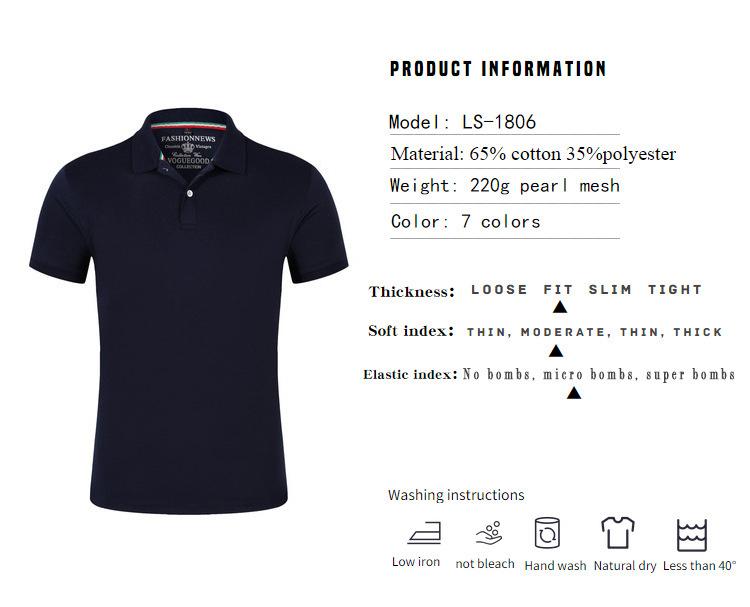 LiSENBAO Brand New arrival  Men Polo Shirt High Quality men polo shirt men short sleeve jerseys Summer Mens polo Shirts LS-1806 3