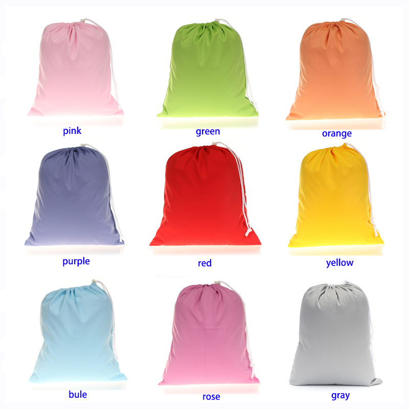 TSOOCOSY 36*30cm Candy Color Drawstring Storage Diaper Bags Washable Reusable Nappy Wet Bag Waterproof Travel Carry Bag Mumm Dag
