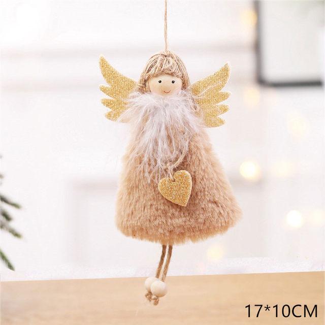 New Year 2020 Cute Santa Claus/Snowman/Angel Christmas Dolls Noel Christmas Tree Decoration for Home Xmas Navidad 2019 Kids Gift 171