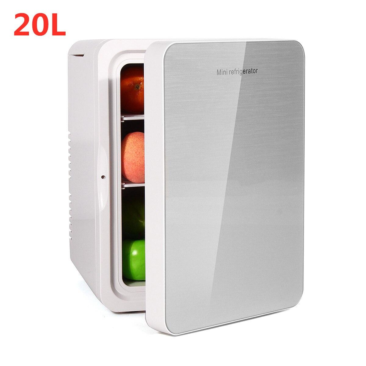 20L Refrigerator Dual-Use Home Car Fridge Mini Refrigerators 12V 56W Portable Ultra Quiet Cooling Heating Box Fridge For Travel