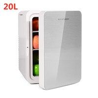 20L Refrigerator Dual Use Home Car Fridge Mini Refrigerators 12V 56W Portable Ultra Quiet Cooling Heating Box Fridge for Travel