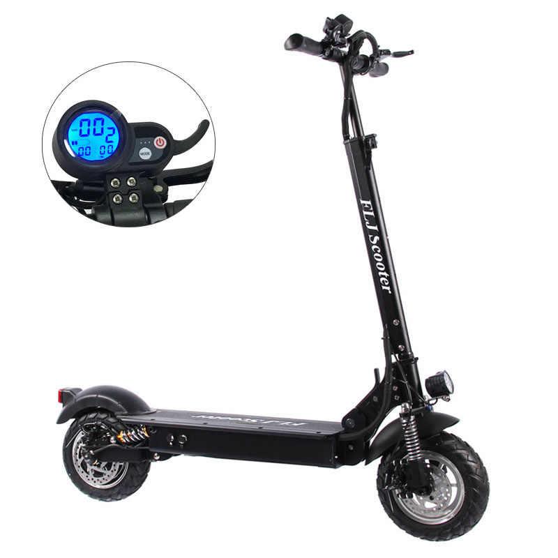 FLJ Электрический скутер для взрослых с сиденьем 48 в 1200 Вт/500 Вт E kick скутер складной электрический велосипед