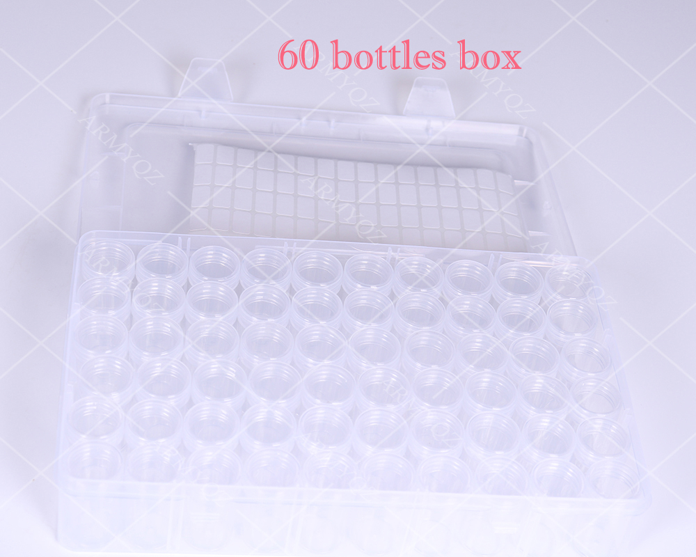 Коробка для хранения алмазной живописи, портативная коробка для хранения бисера 60 коробка для бутылочек контейнер для алмазной живописи Аксессуары для инструментов|Алмазная роспись, вышивка крестом|   | АлиЭкспресс