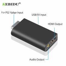KEBIDU – convertisseur Audio-vidéo HDV-G300 PS2 480i/480p/576i, avec sortie Audio 3.5mm, prise en charge de l'affichage PS2, Plug And Play