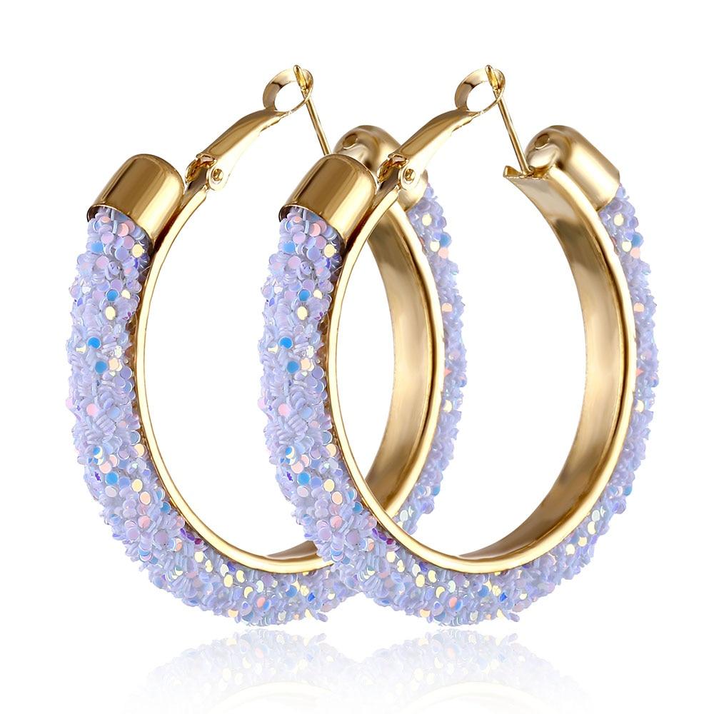IPARAM, новинка, большие круглые серьги-кольца для женщин, модные, массивные, золотой, в стиле панк, очаровательные серьги, вечерние ювелирные изделия - Окраска металла: IPA0108-2