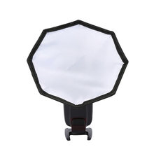 Camera Zwarte Achthoekige Cover Fotografie Vervanging Lichtgewicht Externe Tool Draagbare Softbox Mini Accessoires Flash Diffuser(China)
