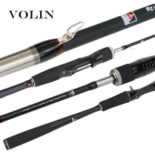 VOLIN 2020 NEW Spinning Fishing Rod 1.8m 2.1m 2.4m 2.7m 3 Tips ML M MH 7′ Carbon Fast Action Casting Rod Lure Fishing Rod