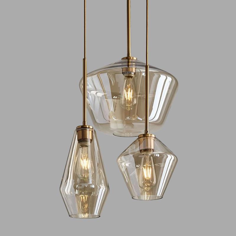 Nordic Postmodern Simplicity LED Pendant Light Personality Originality Glass Hanging Lamp Cafe Bar Single Head Pendants Lighting