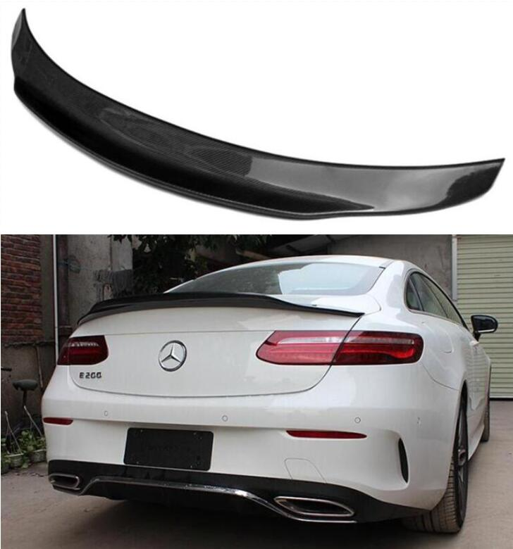 CARBON FIBER REAR WING TRUNK LIP SPOILER FOR Mercedes <font><b>Benz</b></font> <font><b>C238</b></font> W238 E63 E Class 2-Door Coupe 2017 2018 2019 2020 image