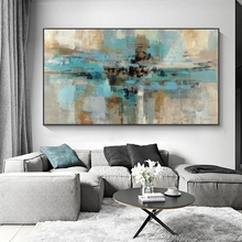 Abstract Canvas Oil Painting Large Wall Art Blue Posters and Prints Wall Hanging Decorative Picture for Living Room Home Decor predator movie figure artwork posters and prints wall art decorative picture canvas painting for living room home decor unframed