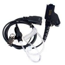 Nowa czarna ukryta słuchawka akustyczna PTT MIC zestaw słuchawkowy dla Motorola HT1000 XTS2500 XTS5000 XTS1500 GP900 MTS2000 MTH850 MTP850