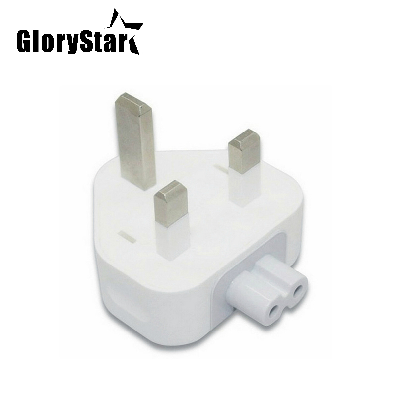 GloryStar Wall AC Detachable Electrical UK Plug Duck Head for Apple iPad iPhone USB Charger MacBook Power Adapter