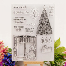 Christmas Tree CLEAR STAMPS for DIY Scrapbooking Window Transparent Stamps Card Making Album paper Craft Decoration New Stamps merry christmas tree sticker painting stencils for diy scrapbooking stamps home decor paper card template decoration album craft