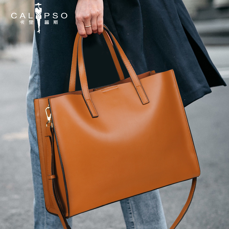 Real Leather Bag High Quality Business Handbag Big Capacity Computer Bag Minimalist Real Leather Laptop Bag For Women Briefcase