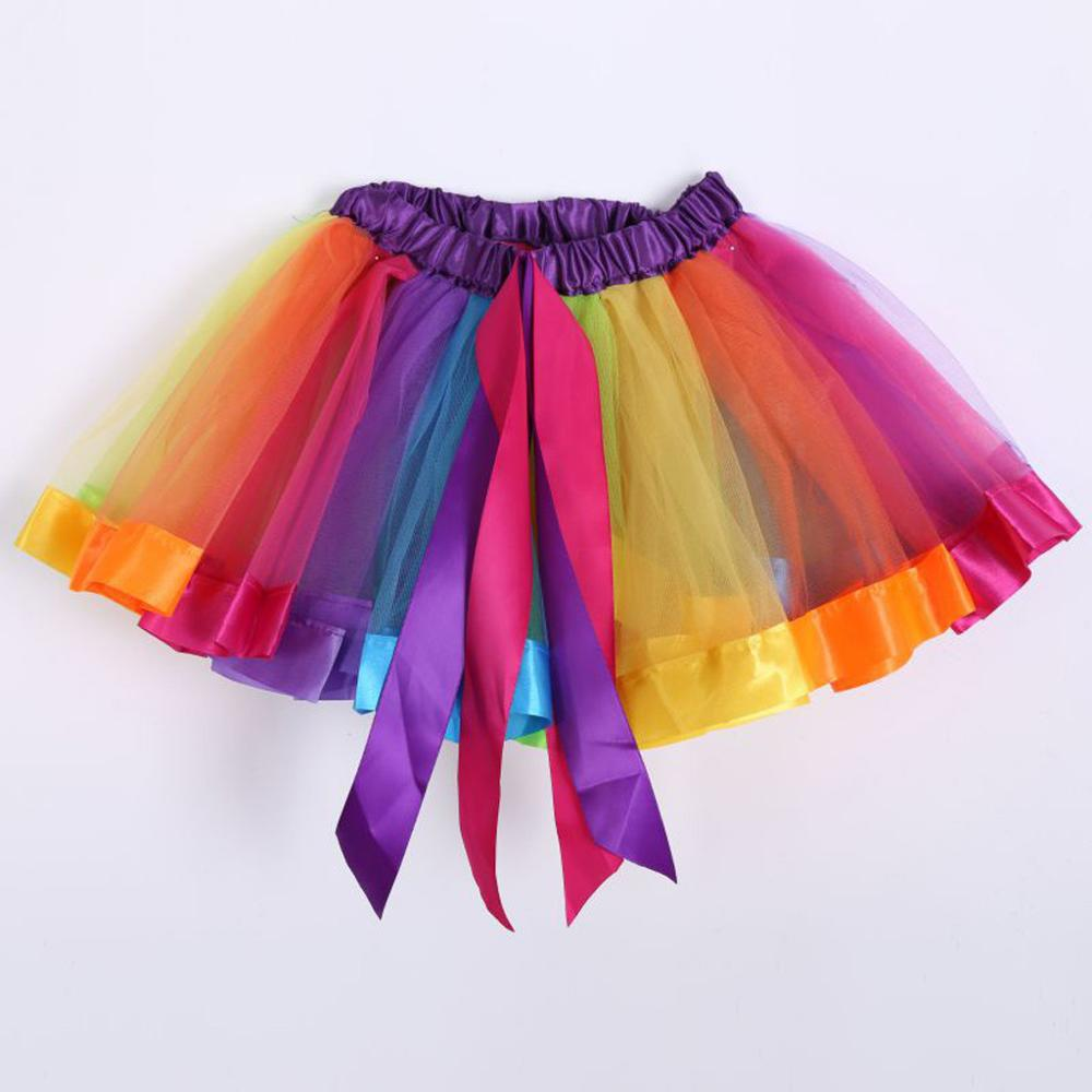 Summer Womens Mini Skirts Sexy Multicolour Elastic 3 Layered Short Skirt Casual A-Line Adult Tutu Dancing Skirt Female Clothing
