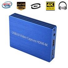 4K HDMI USB 3.0 Bắt Hình Thẻ Dongle 1080P 60fps Camera HD Tiểu Ly Cho OBS Bắt trò Chơi Game Card Bắt Sống