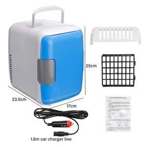 Image 5 - 2 في 1 4L سيارة صغيرة محمولة ثلاجات ثنائي الاستخدام المحمولة دفئا مبرد مع مجمد التخييم الثلاجة سيارة السفر الثلاجة