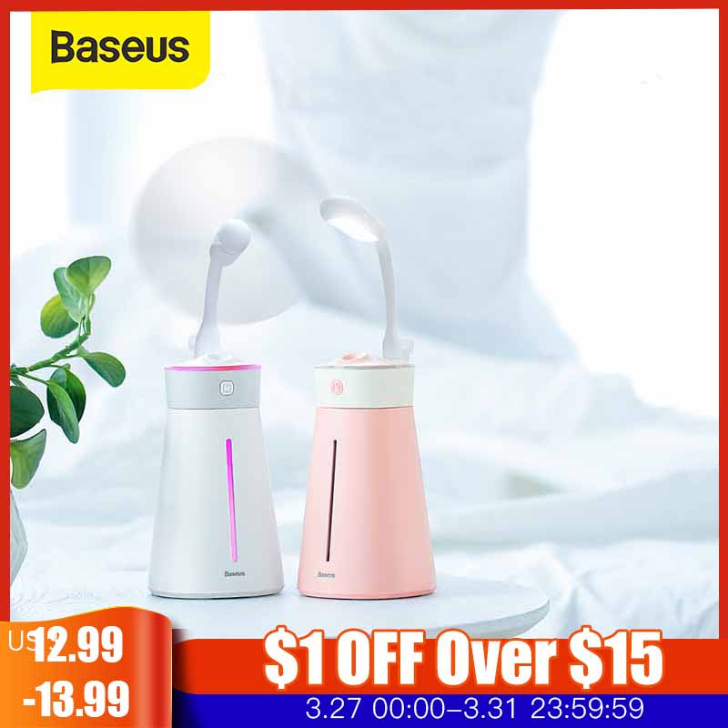 Baseus Humidifier For Office Home Aroma Diffuser Ultrasonic Humidifer LED Night Light Fan Aromatherapy Humidificador
