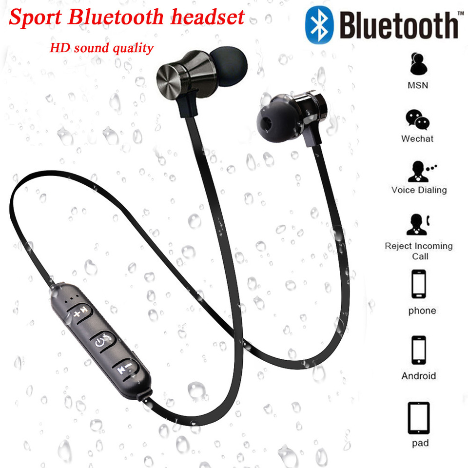 2020 New Magnetic Wireless Bluetooth Headset Sports Headphones With Microphone For Apple Android Xiaomi Huawei Samsung Bluetooth Earphones Headphones Aliexpress