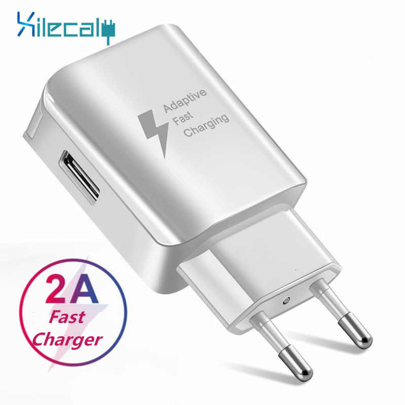 Cepat Charge 5V 2A USB Charger Travel Charger Adaptor Dinding Mobile Phone Charger untuk Samsung Huawei Xiaomi Pengisian Cepat