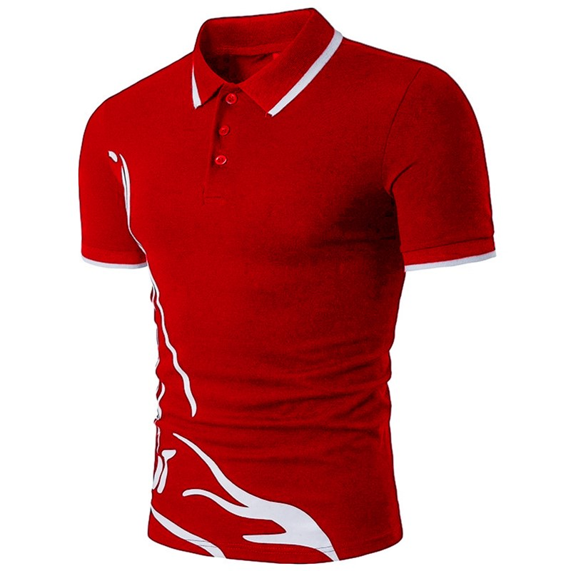 ZOGAA Mens Polo Shirt Summer Short Sleeve Business Polos Causal Cotton Men Turn-over Collar Slim Fit Patchwork Tops Para Hombre