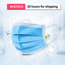10/50 Pcs Mask Disposable Dustproof Anti-fog And 3-Ply Nonwoven Elastic Earloop