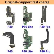Connecteur de Port de chargement USB, câble flexible avec Microphone pour Huawei P9 P10 P20 Lite Plus, 100% Original, 5 pièces