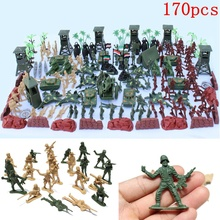 Plastic Military Soldiers Model Toys Horses Soldiers Figures Models Play Kit Children Educational Toy Gifts 5cm 170Pcs/Lot