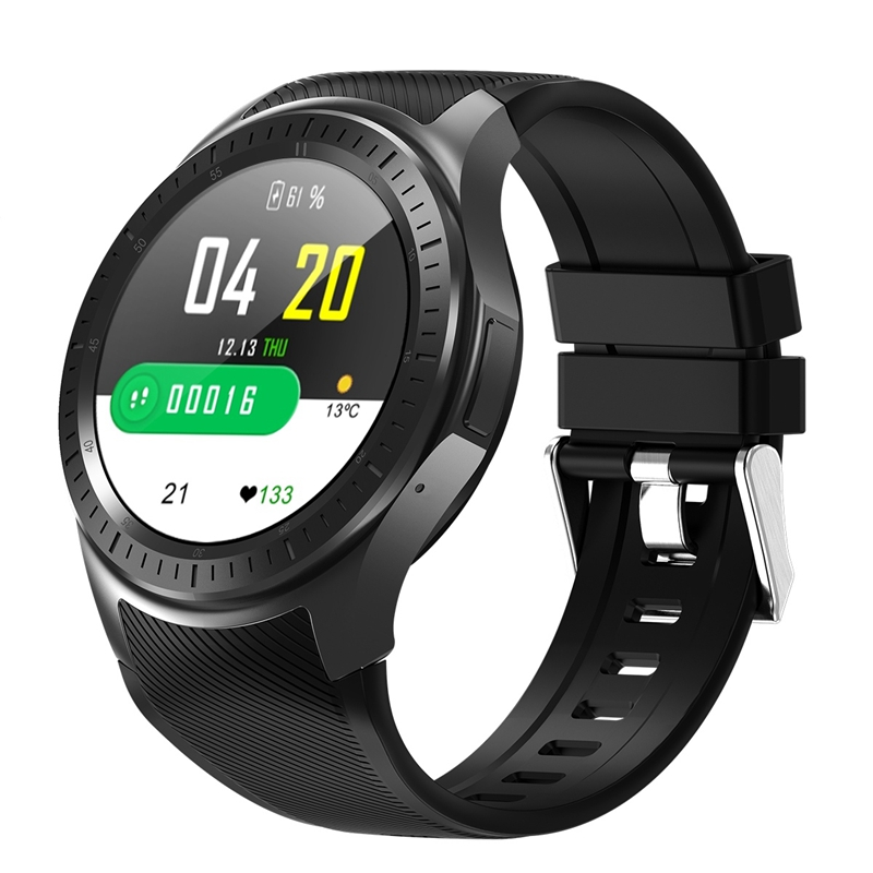 Dm368 Plus <font><b>Smart</b></font> <font><b>Watch</b></font> Bluetooth Smartwatch 4G <font><b>Mt6739</b></font> Android 5.1 Quad Core Wristwatch With Heart Rate Gps Wifi(Black) image
