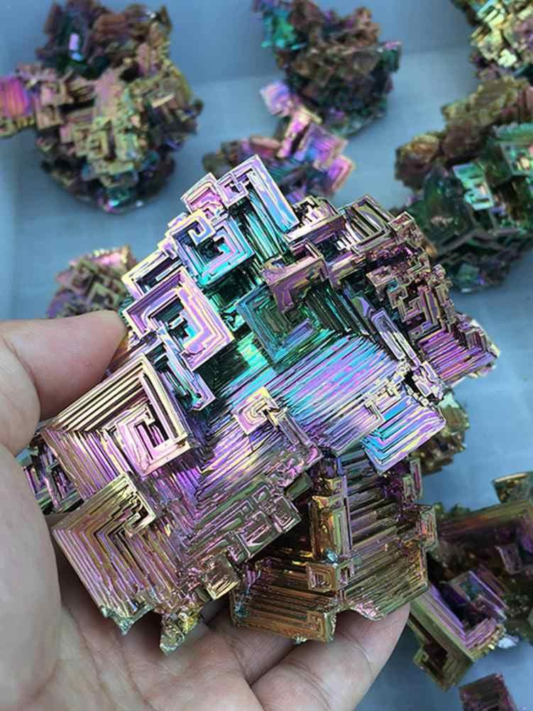 Diferentes formas, titanio Arco Iris, espécimen de bismuto, piedra preciosa Mineral colorida de cristal, piedra de cuarzo para la decoración del jardín del hogar