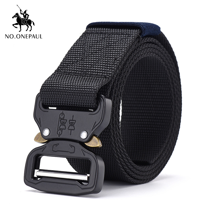 NO.ONEPAUL Outdoor Hunting Metal Tactical Belts For Men Multifunctional Buckle High Quality Marine Corps Men's Training Belt