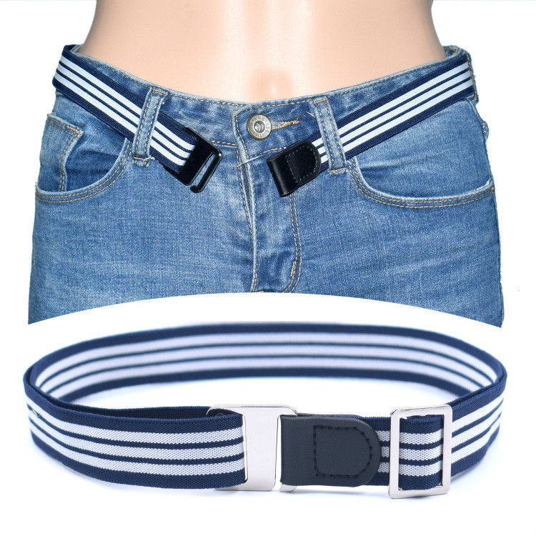 Buckle Free Strech Easy Belt Women Men Child Elastic Lazy Belt For Jeans Invisible Shirt Stay Belt Holder Near Shirt-Stay