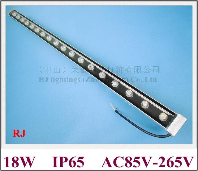 LED wall washer 18W high power wall washer light lamp staining light LED bar light AC85 265V  W / WW / R / Y / B / G / RGB