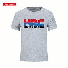 Mens Tshirt Honda Racing HRC Logo Motorcycle Brand T shirt men Popular Brand Summer Clothing Fashion Short Sleeve Cotton T-shirt
