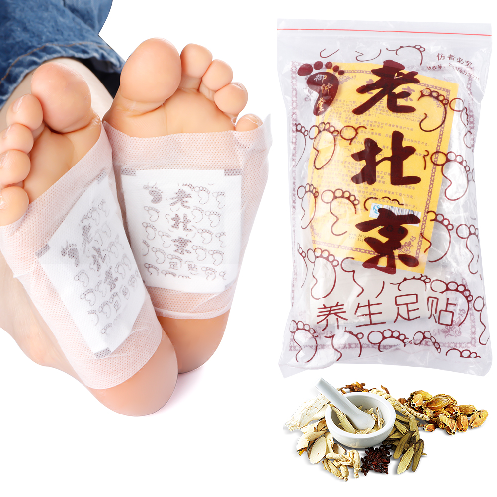 10pcs Body Detox Foot Patch Feet Care Detoxifying Foot Patches Pads With Adhersive Cleansing Improve Sleeping Slim Patch