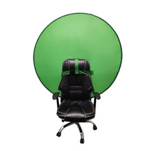 Green screen circular photography background photo portable reflector for live streaming YouTube video studio 142cm56 inches