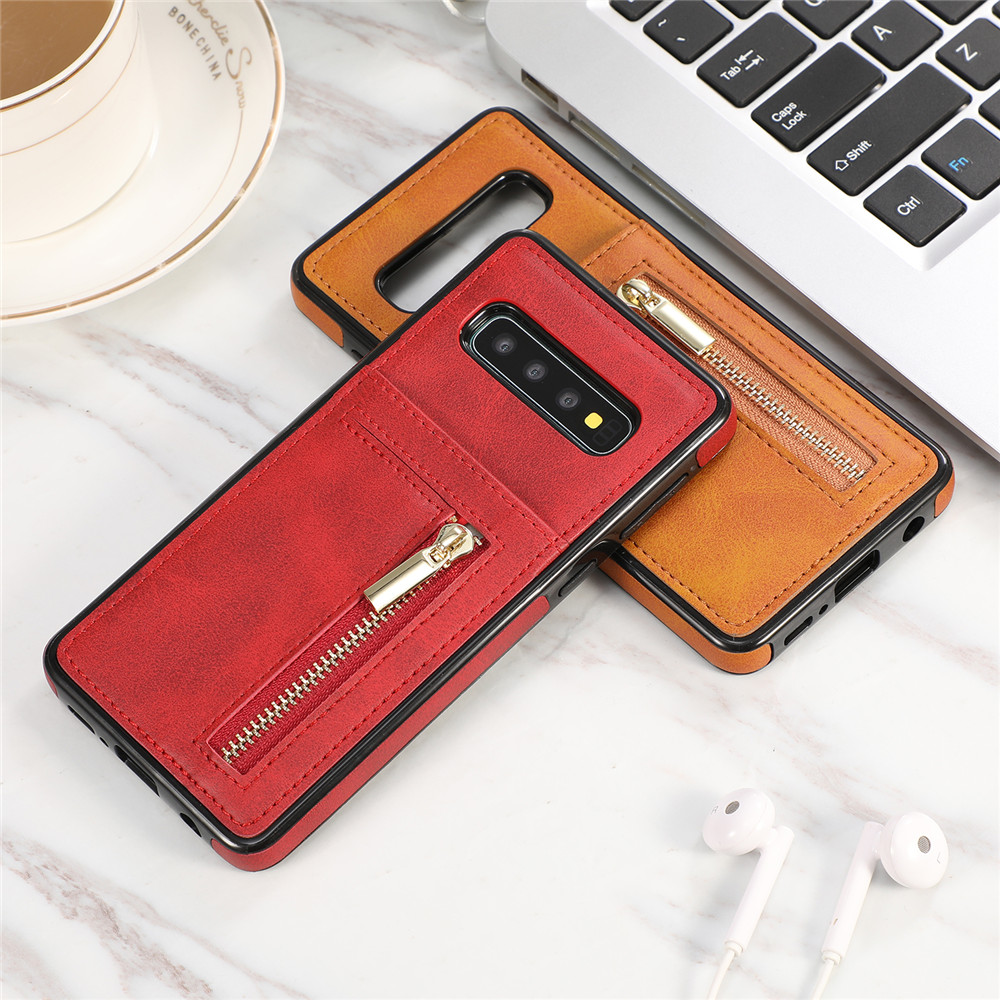 Zipper Leather S10e Wallet Case For Samsung Galaxy S10 S9 S8 Plus S7 Edge Note 10 9 8 Card Holder Shockproof Silicone Cover