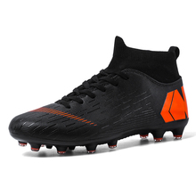 Soccer-Sneakers Football-Shoes Futbol Mens Non-Slip New Black Lace-Up Profesionales Size-35-45
