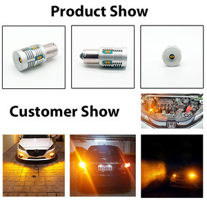 Image 5 - 2 Pcs Bau15s 7507 PY21W Led Canbus Geen Fout Geen Hyper Flash 2000lm BA15S P21W 7506 1156 Led Signal Lamp 6000 K White/Amber Geel