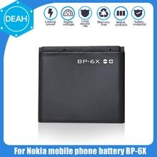 1 шт. оригинальный BP-6X BP6X замена аккумулятор телефона для Nokia 8800 8800 S 8800 Sirocco N73I 8860 8860 8801 Перезаряжаемые Li-Po ячейки