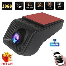 1080P WIFi Dash Cam DVR Dash Car Camera WIFI DVR ADAS Dashcam Android DVR Car Recorder Dash Cam Night Version 1080P Recorder