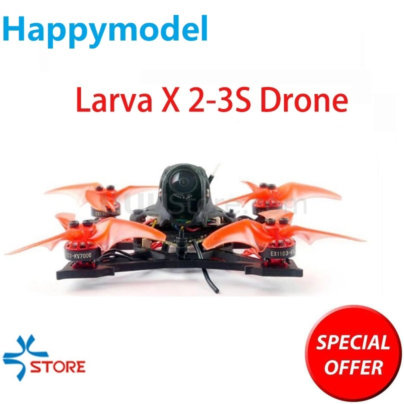 2019 NEW Happymodel Larva X 2-3S 100mm 2.5inch Brushless FPV Race Drone Crazybee F4 PRO V3.0 AIO FC Camera 25mw~200mw VTX GNB
