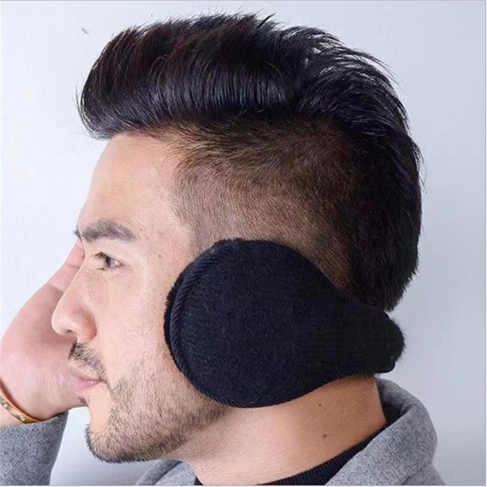 Fashion Men Women Winter Warm Solid Color Earmuffs Adjustable Ear Warmer Soft Ear Muffs Fleece Warmer Earmuff Casual Ear Warmer
