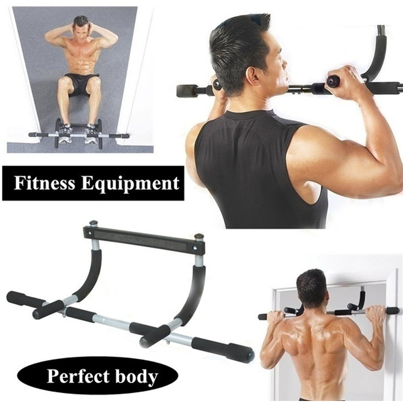 Indoor Fitness Door Frame Pull Up Bar Wall Chin Up Bar Adjustable Training Horizontal Bar Home Adults Workout Fitness Equipments image